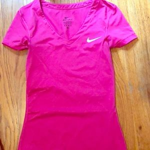 Pink Nike Dri-Fit T-Shirt